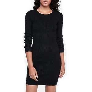 NWT Express Fitted Sweater Dress Scoop 3/4 Sleeve
